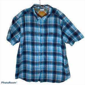Colombia Blue Plaid Button Down Shirt